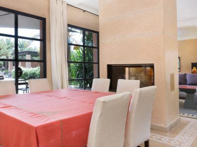 Vente villa de luxe à Marrakech Salle à manger