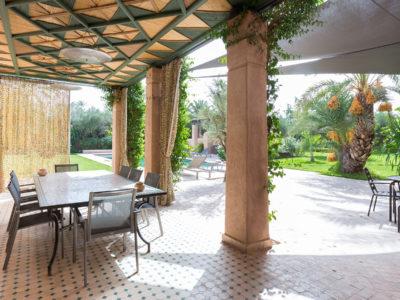 Vente villa de luxe à Marrakech Terrasse
