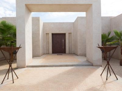 entrée porte villa