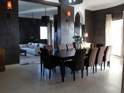 Villa de Charme à Marrakech Salle à mangé