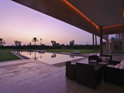 Moderne et luxe à la palmeraie de Marrakech Terrasse