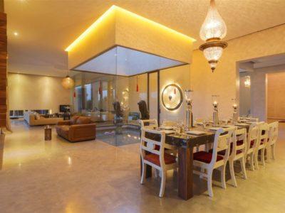 Moderne et luxe à la palmeraie de Marrakech Salle à manger