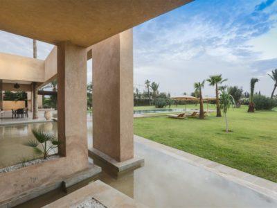 Moderne et luxe à la palmeraie de Marrakech Jardin