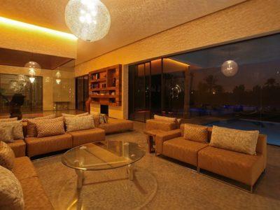 Moderne et luxe à la palmeraie de Marrakech Salon