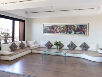 Appartement de luxe à Marrakech salon-droite