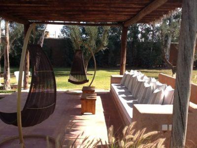 Villa moderne de charme à Marrakech terrasse