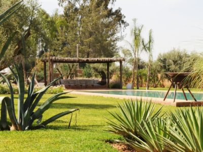 Villa moderne de charme à Marrakech jardin