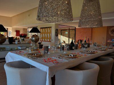 villa de luxe golf Marrakech Salle à manger