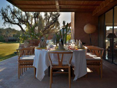 villa de luxe golf Marrakech  Terrasse