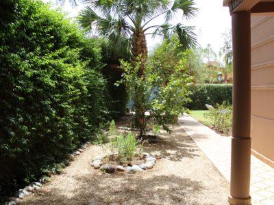 Location villa meublée au Golf de Marrakech jardin