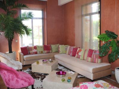 Marrakech Golf Location villa de luxe salon