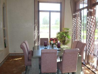 Marrakech Golf Location villa de luxe salle à manger