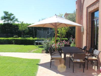 Marrakech Golf Location villa de luxe terrasse