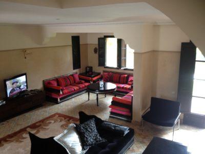 Villa meublée à louer salon